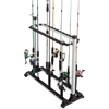 Fishing Rod Rack- Aluminum Freestanding Floor Storage, Organizer Stand for Home or Garage, Fits 24 Freshwater or Saltwater Rods by Wakeman Outdoors