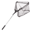 Fishing Landing Net- Collapsible and Foldable with Corrosion Resistant Handle, Fish Safe Nylon Net and Carry Bag By Wakeman Outdoors (39?)