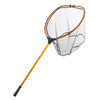 Fishing Landing Net- Collapsible and Foldable with Corrosion Resistant Handle, Fish Safe Nylon Net By Wakeman Outdoors (Gold, 64?)