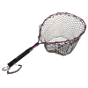 Fishing Net with Magnetic Clip- Adjustable Landing Net with Corrosion Resistant Handle and Rubber Netting for Catch and Release By Wakeman Outdoors