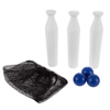 Carnival Games for Kids, Classic Wooden Milk Bottle Toss Outdoor Game for Adults, Children, Boys and Girls by Hey! Play!