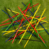 Jumbo Pick Up Sticks Classic Wooden Game, Outdoor or Indoor Fun Strategy and Coordination Game for Adults and Kids by Hey! Play!