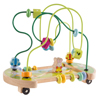 Wooden Maze Toy with Interactive Beads, Puzzle Table Game and Activity Center, Educational Toy for Toddlers, Babies, and Kids by Hey! Play!