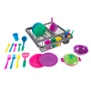 Kids Play Dish Set, 27 Piece Tableware Dish Set with Dish Drainer ? For Kitchen Playset and Pretend Food, Toys for Boys and Girls by Hey! Play!