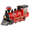 Toy Train Locomotive Engine Car with Battery-Powered Lights, Sounds and Bump-n-Go Movement for Boys and Girls by Hey! Play! Red