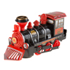 Toy Train Locomotive Engine Car with Battery-Powered Lights, Sounds and Bump-n-Go Movement for Boys and Girls by Hey! Play! Black