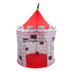 Kids Play Tent, Knight Castle- Pop Up Boys Playhouse Hut for Indoor/Outdoor, Red and Gray Playroom Toy- Foldable with Carrying Bag by Hey! Play!