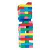 Classic Wooden Blocks Stacking Game with Colored Wood and Carrying Bag for Indoor and Outdoor Play for Adults, Kids, Boys and Girls by Hey! Play!