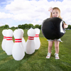 Kids Giant Bowling Game Set - Inflatable Jumbo Bowling Pins and Ball for Outdoor and Indoor Use, For Children and Adults by Hey! Play!