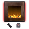 Electric LED Fireplace- Wall Mounted with 13 Backlight Colors, 10 Flame Colors, Timer and Remote Control NO HEAT- 24 inch by Northwest(Bronze/Black)