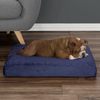 Orthopedic Pet Bed - Egg Crate and Memory Foam with Washable Cover 26x19x4 by PETMAKER - Navy
