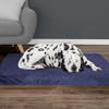 Orthopedic Pet Bed - Egg Crate and Memory Foam with Washable Cover 46x27x4 by PETMAKER - Navy