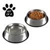 Stainless Steel Pet Bowls with Non Slip Rubber Bottom for Dogs and Cats-Feeder Dish for Food and Water- Set of 2, 28 oz Each By PETMAKER