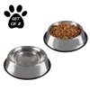 Stainless Steel Pet Bowls with Non Slip Rubber Bottom for Dogs and Cats-Feeder Dish for Food and Water- Set of 2, 32 oz Each By PETMAKER