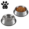 Stainless Steel Pet Bowls with Non Slip Rubber Bottom for Dogs and Cats-Feeder Dish for Food and Water- Set of 2, 64 oz Each By PETMAKER