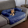 Furniture Protector Pet Cover for Dogs and Cats with Shredded Memory Foam filled 3-Sided Bolster Soft Plush Fabric by PETMAKER ? 30? x 30.5? Blue