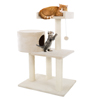 3 Tier Cat Tree- Plush Multi Level Cat Tower with Scratching Posts, Perch Style Bed, Cat Condo and Hanging Toy for Cats and Kittens By PETMAKER (31?)