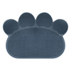 Non Slip Food and Litter Mat for Dogs and Cats- Floor Protecting Paw Shaped Mat for Cat and Dog Bowls- BPA and Phthalate Free By PETMAKER (Navy)