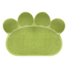 Non Slip Food and Litter Mat for Dogs and Cats- Floor Protecting Paw Shaped Mat for Cat and Dog Bowls- BPA and Phthalate Free By PETMAKER (Green)