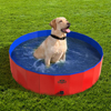Pet Pool and Bathing Tub-Foldable with Carrying Bag Included, Travel Friendly Tub for Bathing or Playtime-For Dogs, Cats and More, 47x12 by Petmaker