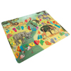 Baby Play Mat for Kids, Microfiber Flannel Fleece & Foam Mat NonSlip Back Safari Animals, Letters & Numbers for Toddlers Boys and Girls by Hey! Play!