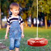 Disc Swing, Outdoor Plastic Round Seat with Adjustable Nylon Hanging Rope for Kids Playset Frame or Tree, Backyard Swinging Toy by Hey! Play! (Red)