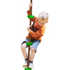 Climbing Rope Knotted Tree Swing Ladder- Kids Backyard Balance Equipment for Strength, Exercise and Healthy Fun for Boys and Girls by Hey! Play!