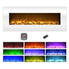 Electric Fireplace-Wall Mounted Color Changing LED Flame, NO HEAT, With Multiple Decorative Options and Remote Control by Northwest (50-inch, White)