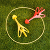 Lawn Darts Outdoor Game with 4 Plastic Giant Darts with Rounded Rubber Tips for Yard, Games for Adults and Kids by Hey! Play!