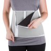 5 Zippered Waist Trainer Body Shaper by Bluestone, Adjustable Belly Band Girdle for Weight Loss and Back Support