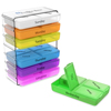 Daily Pill Organizer- 7 Day Weekly Compact Prescription and Vitamin Organizers- 4 Times a Day Breakfast, Lunch, Dinner, and Bedtime by Everyday Home