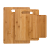 3 Piece Bamboo Cutting Board Set- Eco Friendly, Antimicrobial and Antibacterial Chopping and Serving Boards 8x6, 11x8.5, 13x9.5 by Classic Cuisine