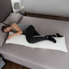 Memory Foam Body Pillow with Bamboo Fiber Cover- Antibacterial, Mildew Proof for Side, Stomach, Back Sleepers and Pregnant Women by Lavish Home
