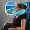 Memory Foam Travel Pillow- With Gel That Cools for Head/Neck Support with Pillowcase for Sleeping/Traveling/Airplanes/Trains by Lavish Home (Sky Blue)
