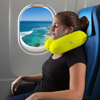 Memory Foam Travel Pillow- With Gel That Cools for Head/Neck Support with Pillowcase for Sleeping/Traveling/Airplanes/Trains by Lavish Home (Yellow)