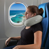 Memory Foam Travel Pillow- With Gel That Cools for Head/Neck Support with Pillowcase for Sleeping/Traveling/Airplanes/Trains by Lavish Home (Gray)