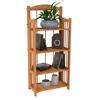Bookcase for Decoration, Home Shelving, and Organization- 4 Shelf, Folding Wood Display Rack for Home and Office by Lavish Home (Light Brown)