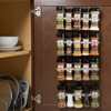 Spice Rack Organizer- Cabinet Gripper Clip Strips for Kitchen, Countertop and Pantry Organization and Spices Storage By Lavish Home