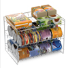 3 Tier Can Dispenser-Organizer Rack Holds up to 27 Cans-For Kitchen Pantry, Countertops, and Cabinets-Storage Accessories by Classic Cuisine (Chrome)