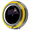 East Carolina University Chrome Double Rung Neon Clock