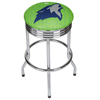 NBA Chrome Ribbed Bar Stool - City  - Minnesota Timberwolves