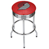 NBA Chrome Ribbed Bar Stool - City  - Portland Trailblazers