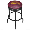 NBA Black Ribbed Bar Stool - Fade  - Cleveland Cavaliers