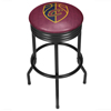 NBA Black Ribbed Bar Stool - City  - Cleveland Cavaliers