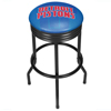 NBA Black Ribbed Bar Stool - Fade  - Detroit Pistons