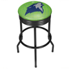 NBA Black Ribbed Bar Stool - City  - Minnesota Timberwolves