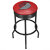 NBA Black Ribbed Bar Stool - City  - Portland Trailblazers