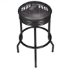 NBA Black Ribbed Bar Stool - Fade  - San Antonio Spurs