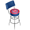 NBA Swivel Bar Stool with Back - City  - Detroit Pistons