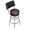 NBA Swivel Bar Stool with Back - Fade  - Portland Trailblazers
